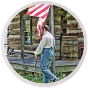 Soldier At Bedford Village Pa Round Beach Towel