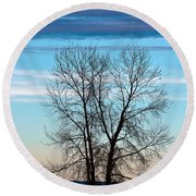 Round Beach Towel featuring the photograph Soldier Creek Sunset by Michael Chatt