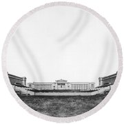 Soldiers' Field And Museum Round Beach Towel by Underwood Archives