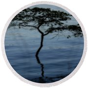 Solitaire Tree Round Beach Towel