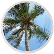 Solitary Palm Round Beach Towel