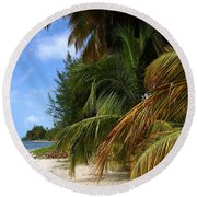 Round Beach Towel featuring the photograph Nude Beach by The Art of Alice Terrill