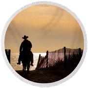 Solitude Round Beach Towel by Carol Lynn Coronios