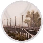 Solitude  Round Beach Towel by Mary Ward
