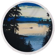 Solitude Round Beach Towel