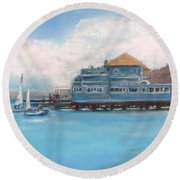 Soma's Restaurant  Round Beach Towel