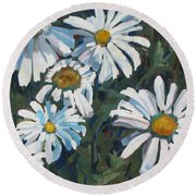 Some Are Daisies Round Beach Towel