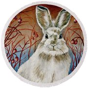 Some Bunny Is Charming Round Beach Towel by Linda Simon
