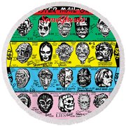 Round Beach Towel featuring the digital art Some Ghouls by Sasha Alexandre Keen