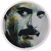 Freddie Mercury Round Beach Towel
