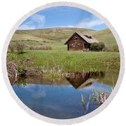 Round Beach Towel featuring the photograph Somebody's Dream by Jack Bell