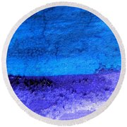 Something Blue Round Beach Towel