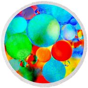 Something Out Of Nothing Round Beach Towel