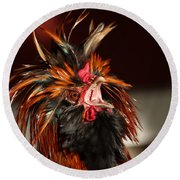 Round Beach Towel featuring the photograph Something To Crow About by Lynn Sprowl