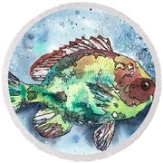 Something's Fishy Round Beach Towel