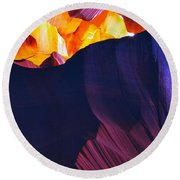 Round Beach Towel featuring the photograph Somewhere In America Series - Antelope Canyon by Lilia D