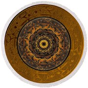 Song Of Heaven Mandala Round Beach Towel
