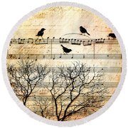 Songbirds Round Beach Towel