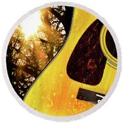 Songs From The Wood Round Beach Towel