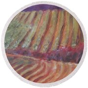 Sonoma Vines Round Beach Towel