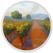 Sonoma Vineyard Round Beach Towel