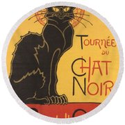 Soon The Black Cat Tour By Rodolphe Salis  Round Beach Towel