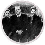 Sopranos James Gandolfini Round Beach Towel