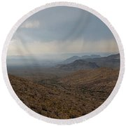 Sotol Scenic Overlook Big Bend National Park Round Beach Towel by Shawn O'Brien