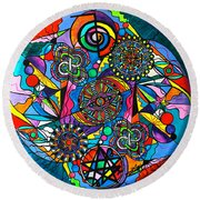 Soul Retrieval Round Beach Towel