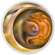 Soul Watch - Abstract Art Round Beach Towel