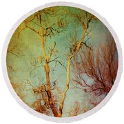 Souls Of Trees Round Beach Towel