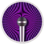 Sound Reinforcement 2 Round Beach Towel