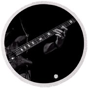 Sounds In The Night Bass Man Round Beach Towel