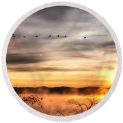 Round Beach Towel featuring the photograph South Carolina Morning by Lynne Jenkins