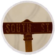South Street Round Beach Towel
