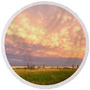 Southeastern New Mexico Round Beach Towel by Roselynne Broussard