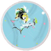 Southern Bell Round Beach Towel