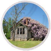 Southern Country Wisteria Round Beach Towel