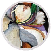 White Glory II Round Beach Towel