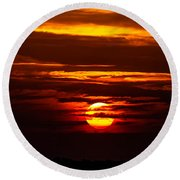 Southern Sunset Round Beach Towel