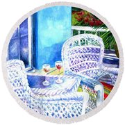 Southernmost Happy Hour Round Beach Towel