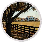 Southfork Ranch - Across The Pasture Round Beach Towel