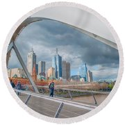 Southgate Bridge Round Beach Towel