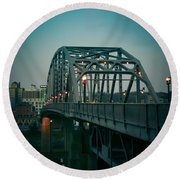 Southside Bridge  Round Beach Towel