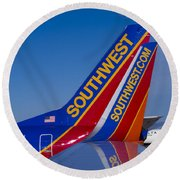 Southwest Round Beach Towel by Steven Ralser