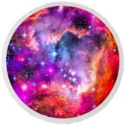 Space Image Small Magellanic Cloud Smc Galaxy Round Beach Towel