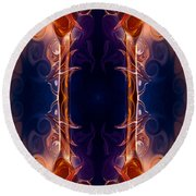 Space Needle Abstract Pattern Artwork By Omaste Witkowski Round Beach Towel