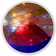 Space Odyssey 08 Round Beach Towel by Ron Davidson
