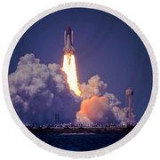Space Shuttle Challenger Sts-6 First Flight 1983 Photo 1  Round Beach Towel
