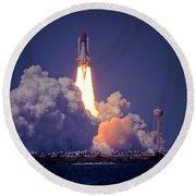 Space Shuttle Challenger Sts-6 First Flight 1983 Photo 1  Round Beach Towel